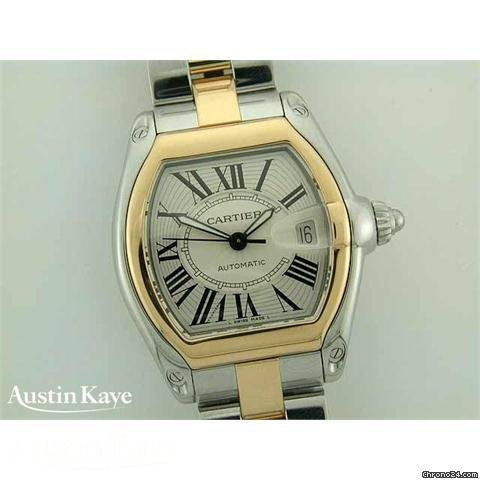 Cartier Roadster Bi-Metal automatic on bracelet