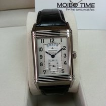 Jaeger-LeCoultre Grande Reverso Duo White Satin Dial Leather...