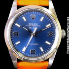 Rolex Airking 14000m Ss No Date Blue Arabic And Stick Dial
