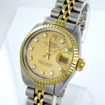 Rolex Datejust Damenuhr Mit Brillanten Diamanten Stahl/gold