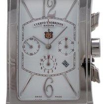 Cuervo y Sobrinos Prominente Cronografo Automatic Mens Strap...