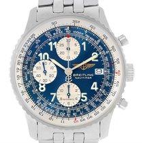 Breitling Navitimer Ii Steel Blue Dial Mens Watch A13322 Box...