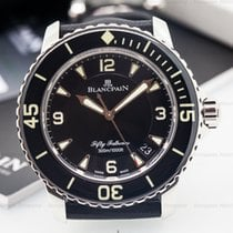Blancpain 5015-1130-52 Fifty Fathoms Automatic SS / Canvas...