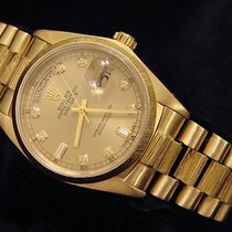 Rolex 18k Gold Day-date President Champagne Diamond 18078