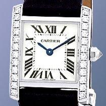 "Cartier Diamond ""Tank Francaise"" Strapwatch."