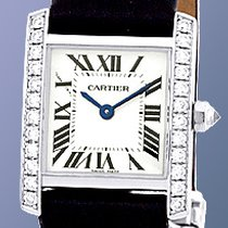 "Cartier Diamond ""Tank Francaise"" Strapwatch."