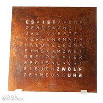 QLOCKTWO CLASSIC - Creator's Edition Rust - Wanduhr /...