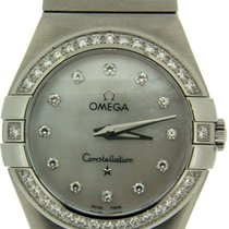 Omega Constellation Small Stainless Steel Mother Pearl Dial...