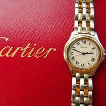 Cartier COUGAR Stahl Gelb Gold 18K 750 Elegante Unisex Armbanduhr