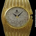 Universal Genève 18k Mesh Bracelet Pave Diamond Dial