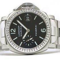 Panerai Luminor Marina 2.0ct Diamond Bezel OP 6529 PAM48 40mm...