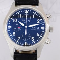 IWC Flieger Chronograph Pilots Automatic Stahl Black 42 Day-Date