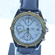 Breitling Chronomat Herren Uhr Stahl/gold 39mm Rar Weiss Rar...
