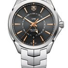 TAG Heuer LINK CAL 7 GMT & AUTOMATIC ANTHRACITE DIAL