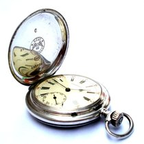 Longines Pocket Watch Hunter 50mm Solid Silver 1925c