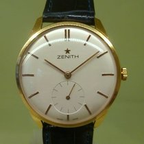 Zenith vintage oversized circa 1959 rose gold 18k 37.5 mm