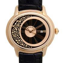 Audemars Piguet New  Millenary 18k Rose Gold Black Automatic...