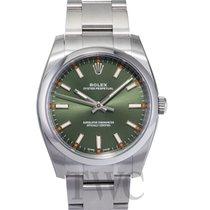 롤렉스 (Rolex) Perpetual 34 Olive Green/Steel 34mm - 114200