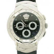 Versace Gianni 001-2500 In Steel And Leather, 42mm