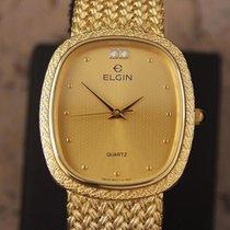 Elgin Swiss Made 1980s Mens Luxury Gold Plated Men's...