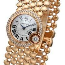 Cartier Ballon Blac WHT Pearl DIA Women 18KT Rose Gold Watch...