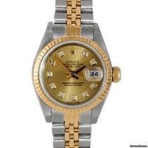 Rolex Ladies 18K/SS Datejust - Champagne Diamond Dial 79173