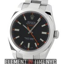 Rolex Milgauss Stainless Steel Black Dial Circa 2012 Ref. 116400