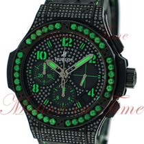 "Hublot Big Bang 41mm Fluo ""Green"", Black Diamond Dial,..."