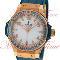 "Hublot Big Bang 38mm Tutti Frutti ""Blue"", White Dial,..."