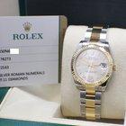 Rolex New DateJust Midsize 18K Yellow Gold & Steel Box...
