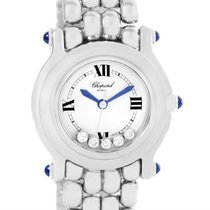 Chopard Happy Sport White Dial 5 Floating Diamonds Watch...