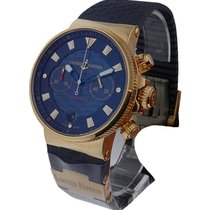 Ulysse Nardin Maxi Marine Blue Seal Chronograph in Rose Gold