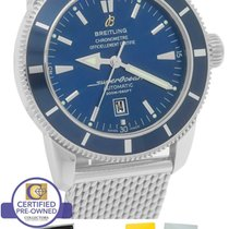 Breitling SuperOcean Heritage 46 A17320 Blue 46mm Mesh...