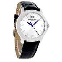 Raymond Weil Tradition Black Leather Band Swiss Quartz Mens...