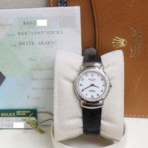 Rolex Ladies Cellini Cellisima 6671 18K White Gold Diamond Bezel
