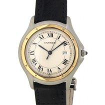Cartier Cougar Steel, Yellow Gold, 34mm