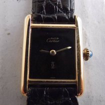 Cartier tank lady vermeil argento 925 placcato oro 20 micron...