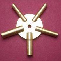 Sternschlüssel für Grossuhren in Messing 3-5-7-9-11