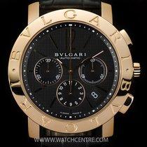 Bulgari 18k R/G Black Dial Ltd Ed Gents B&P BBE42BPGLDCH