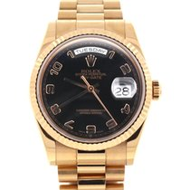 Rolex President DayDate Rose Gold 36mm Arabic Dial Watch 118235