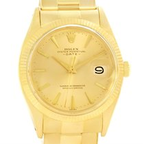 Rolex Date 18k Yellow Gold Oyster Bracelet Vintage Mens Watch...