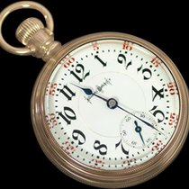 Illinois 1906 Railroad 18 size Gold Filled Pocket Watch -...