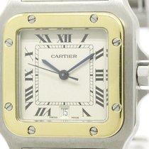 Cartier Polished Cartier Santos Galbee 18k Gold Steel Quartz...