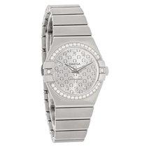 Omega Constellation Ladies Diamond Swiss Quartz Watch 123.15.2...