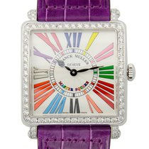 Franck Muller New  Master Square Stainless Steel With Diamonds...