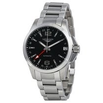 Longines Conquest Automatic Black Dial Mens Watch L3.687.4.56.6