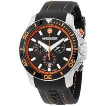 Wenger Black Dial Black Silicone Strap Men's Watch 010643106