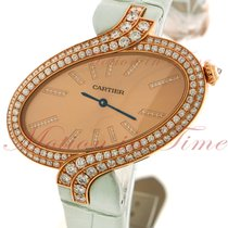 Cartier Delices Extra Large, Pink Gold Sunray Dial, Diamond...