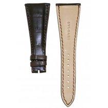 Bulgari -dark Brown Crocodile Leather Strap