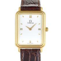 Omega Women's Rectangular 18K Yellow Gold Quartz Watch...